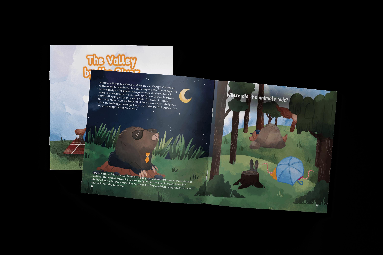 Naša prvá kniha - Údolie pri rieke - kniha pre deti