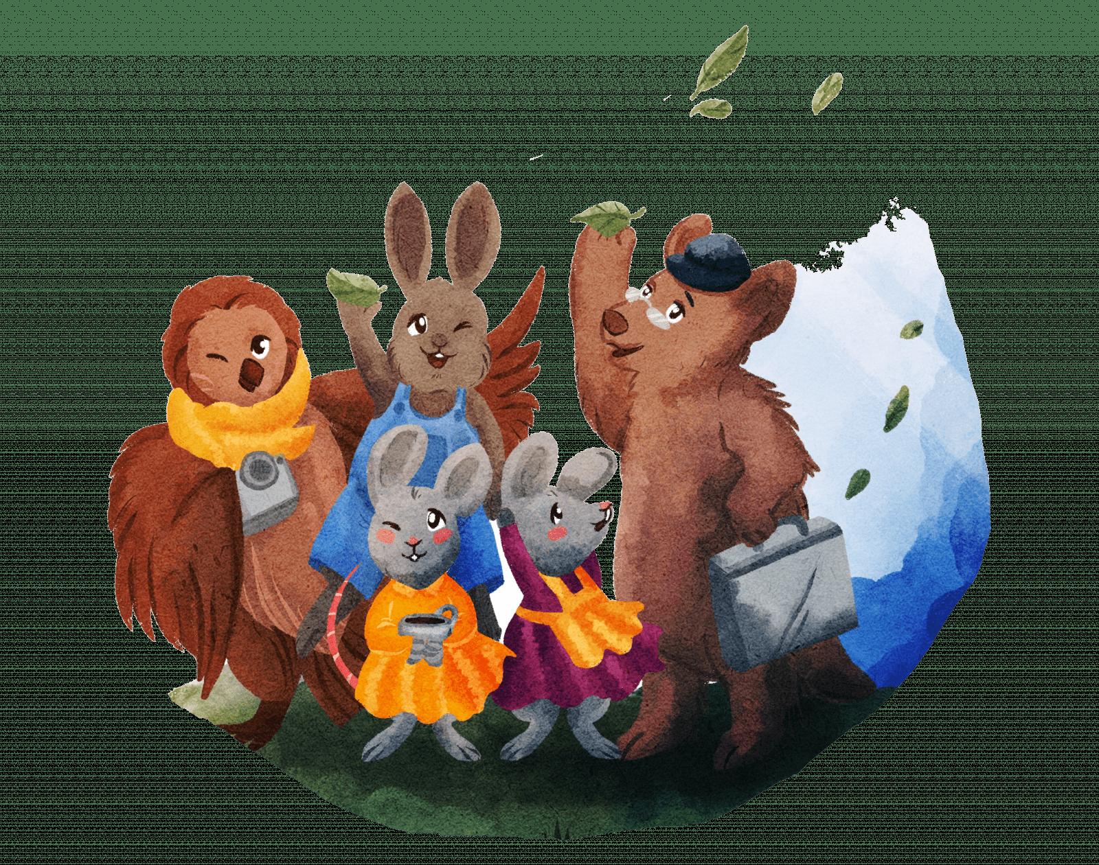 Children's book with animals